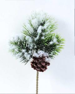 China 10*24CM Artificial Snow Cedar Pine Sprays GS-3270184 on sale