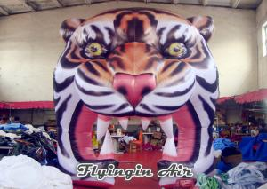 China Inflatable Tiger Head Tunnel, Inflatable Events Entrance, Inflatable Arch on sale