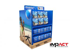 China Two Face Corrugated Cardboard Pallet Display Promotional For Beach Ball on sale