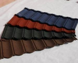China colorful Pre-painted Corrugated Steel Roofing Sheets Panel  / Rapezoid steel roofing sheet on sale