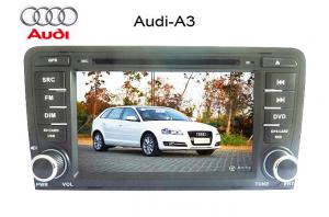 China Audi A4 Double Din Bluetooth DVD GPS Player with TV Tuner,Windows CE 6.0 ,IPod Control on sale