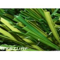 Monofilament Green Artificial Turf Lawn 50mm Environment Friendly For Football