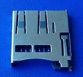 China Metal Shielding JST Equivalent TF Card Socket For Digital Camera / Micro SD Card Socket on sale