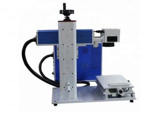 China Desktop mini small handheld mini portable fiber laser marking machine on sale