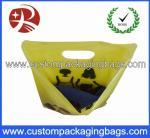 Customized Logo Printed Die Cut Handle Plastic Bags For Underwear