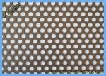 Round Hole Hot Dipped Galvanized Decorative Perforated Metal Panels Mild Steel / Carbon Steel