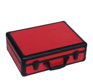 China Red Aluminum Tool Case With PU Leather  Display And Packing Tools Light Weight on sale