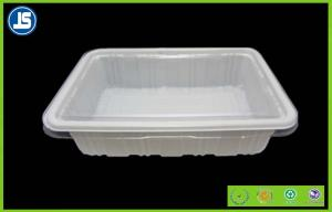 China Starch Pantone Biodegradable Plastic Food Trays , Blister Food Boxes Container on sale