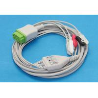 GE Marquette Patient Monitor ECG Cable 3 Leads Clip AHA, Compatible 2021141-001, Green 11-Pin Importer  Probe