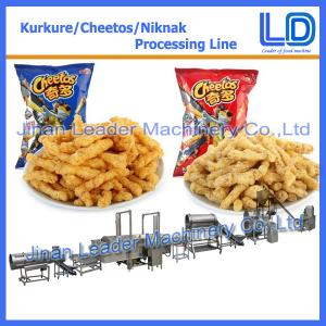 China Industrial kurkure cheetos crisps puffcorn puffs extruder machinery supplier