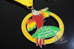Quality Marathon Sports Running Award Medals Bird Design With Cut Out / Soft Enamel for sale