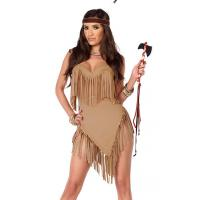 China High quality Fancy Fringe Sexy Native American Costume Wholesale with Size S to XXL Available on sale