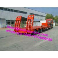 China 60 Ton FUWA 13Ton JOST King Pin Low Bed Semi Trailer Trucks , 3 Axles Trailer on sale