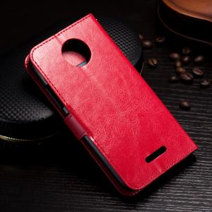 China Protective Wallet Stand Motorola Leather Case For Motorola C Plus Side - Open on sale