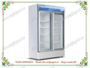 China OP-808 CE Approved Upright Glass Door Medical Freezer, Storage Laboratory Freezer on sale