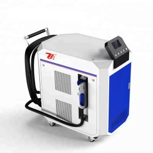 China Paint Removal Laser Cleaning Machine , Laser Metal Cleaner Air Cooling on sale