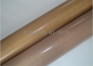 China -196℃ - 300℃ PTFE / Teflon Coated Fiberglass Fabric Non Sticky Heavy Duty on sale