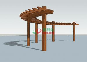 China Durable Arched Pergola Kits 14.3m X 1.5m  ,  High Density Composite Wood Pergola on sale