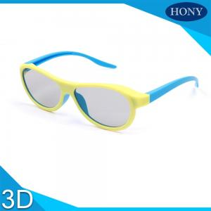 China Classic Real D Plastic 3D Glasses For Adults , Blue Orange Yellow on sale