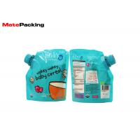 100% Security Food Grade Spout Pouch Custom Logo Printing Organic Baby Food Pouches
