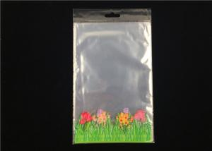 China Gift Custom Clear Plastic Packing Bags Printing Flower With Bottom Gusset on sale