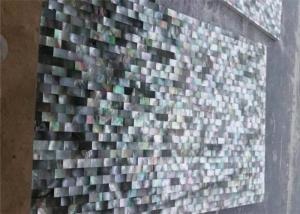 China Black Semi Precious Stone Slabs Shell Stone Composited Slab For Construction Material on sale
