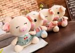 Personalized Pig Plush Toy , Extra Soft Cute Pig Doll For  Girls / Kids Gift