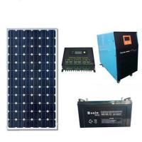 LEDs Solar 5000W solar power generation system 2000W solar panel input with air conditioning pump motor, power supply