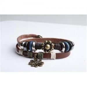 China Leather Charm Bracelets VOB0030 on sale