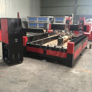 China Two heads two rotary axis cnc granite router machine  / headstone engraving machine on sale