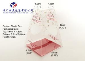 China Trapezoid Shape Custom Plastic Box Packaging For Bath Set Clear Box Packaging on sale