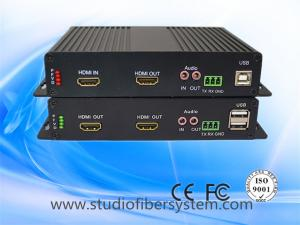 China HDMI KVM fiber optic extender with bidi stereo audio over singlemode fiber to 20km on sale