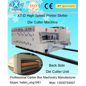 China CE automatique en acier de cartonneuse de haute précision avec le rouleau en céramique d'Anilox on sale