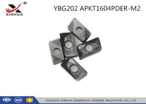 China YBG202 APKT1604 Indexable Carbide Insert Milling Inserts For Metal Cutting on sale