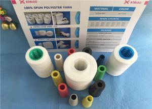 China Raw White Sewing Ring Spun 100% Polyester Yarn 20/2 30/2 402 50/2 on sale