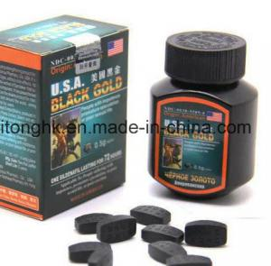 China USA Black Gold Pill / Penius Enlargement Pills  for Strengthen Body / Consolidate Sperms GMP Approval on sale