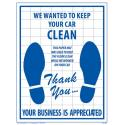 Car Service Care Products Paper Floor Mats for sale