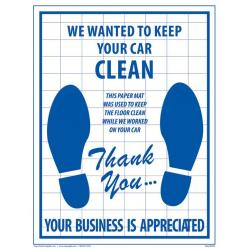China Car Service Care Products Paper Floor Mats for sale