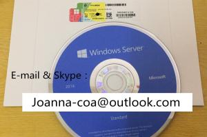 China Windows Software Win Server 2016 Standard OEM License Coa 64bit Operating Systems DVD Full Package on sale