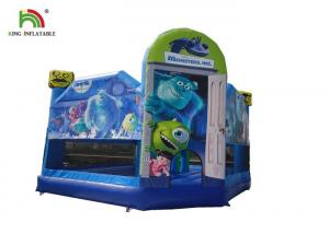 China Blue Realistic Monsters University Printing Inflatable Jumping Castle With Arch on sale