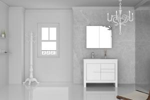 Quality Combined MDF Bathroom Cabinet Sets with Mirror / bathroom vanity set for sale