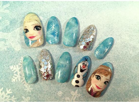 Brand nail art frozen printing false nails anna and elsa brand nail art frozen printing false nails anna and elsa princess printing images prinsesfo Gallery