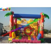 Full Printing Zoo Bouncy Jumping Castles , Moonwalk Bouncer With PVC tarpaulin