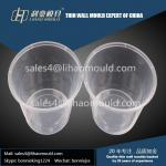 1750ml plastic disposable round thin walled container mould exporter