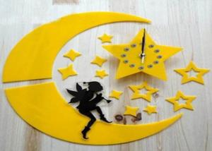China Creative Wall Decal Clock Diy Personalized Gift sticker wall clock on sale