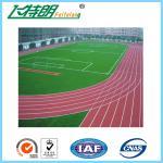 Synthétique en caoutchouc de sports de plancher réutilisé par plancher courant durable de voie d'unité centrale préfabriqué