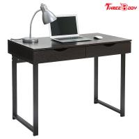 China Black Modern Office Table Writing Desk With Drawers Study Home Office Furniture on sale