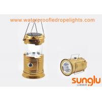 China 3 W Waterproof Solar LED Camping Lantern / Outdoor Led Camping Light on sale