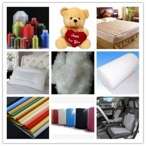 China polyester staple fiber 15DX64MM HCS,100% Polyester, Staple, Siliconized. on sale