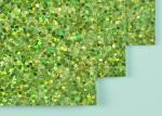 12*12 Inch Size Light Green Glitter Paper DIY Glitter Paper With Woven Backing